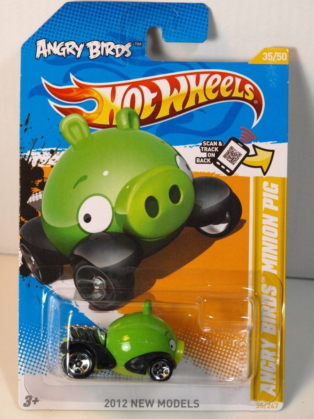 Hot Wheels 2012 New Models 35/50 Angry Birds Minion Pig Green