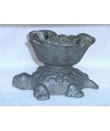 Vintage Cast Aluminum Turtle Cigarette Ashtray  - $12.00