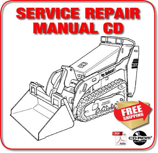 Bobcat MT52 MT55 Mini Track Loader Service Repair Manual A3WR11001- A3WU11001 CD - $19.98