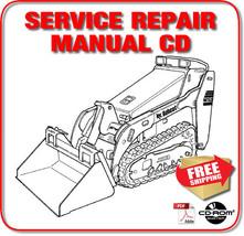 Bobcat MT52 MT55 Mini Track Loader Service Repair Manual 3-in-1 CD - $49.98
