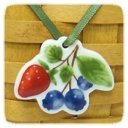 Primary image for Longaberger Berry Fruit Medley Basket Tie On New In Box Genuine Pottery