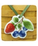 Longaberger Berry Fruit Medley Basket Tie On New In Box Genuine Pottery - $8.86