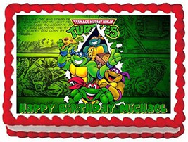 Sweet Candy Kisses-Teenage Muntant Ninja Turtles Edible Image Frosting S... - $8.54