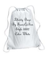 "White  Liberty Bags 8882  17"" x 20 Inches cinch duro chord drawstring bac - $3.97"