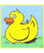 Rubber Ducky Crochet Graph Afghan Pattern - $5.00