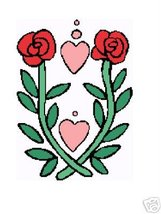 Hearts and Roses Crochet Graph Afghan Pattern - $5.00