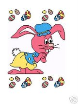 Bunny/Easter eggs Crochet Graph Afghan Pattern - $5.00