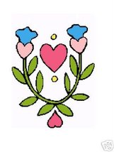 Hearts and  Bluebell Crochet Graph Afghan Pattern - $4.00