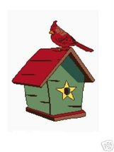 Cardinal and Birdhouse Crochet Graph Afghan Pattern - $5.00
