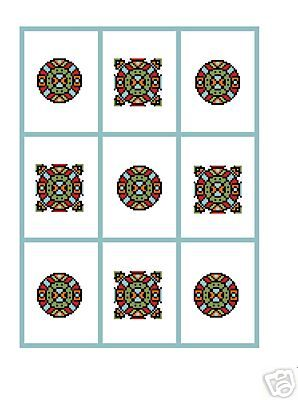 Geometric Shapes Crochet Graph Afghan Pattern