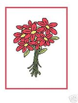 Pretty Red Flower Crochet Graph Afghan Patterns - $5.00