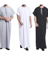 Arab Desert Robe Saudi Prayer Abaya Dishdash Gown Dresses Muslim Eid Men... - $47.94