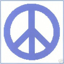 Peace Sign Crochet Graph Afghan Pattern - $5.00