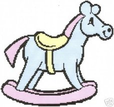 Rocking Horse Crochet Graph Afghan Pattern - $5.00
