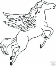 Pegasus Crochet Graph Afghan Pattern - $5.00