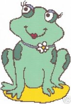 Ms. Frog Lady Crochet Graph  Afghan Pattern - $5.00
