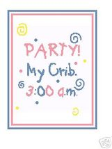 Party Baby Crochet Graph Afghan Pattern - $4.00