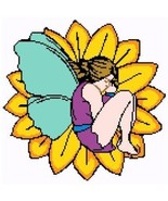 Sunflower Fairy Color Graph Afghan Pattern - $5.00