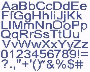 Block Alphabet Color Graph Pattern