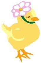 Easter Bonnet Chick Color Graph Pattern image 2