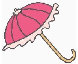 Pink Parasol Color Graph Afghan Pattern - $5.00