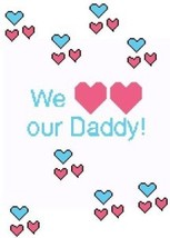 We Love Our Daddy Color Graph Afghan Pattern - $5.00