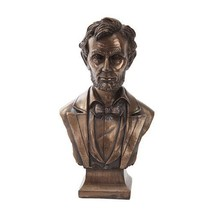 7.5 Inch Bronze Colored Abraham Lincoln Bust Figurine Statue - $37.69