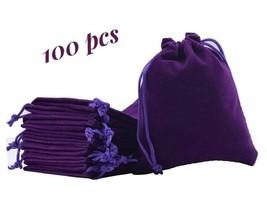 Velvet Wedding Pouches x100 Party Favor Jewelry Purple Velvet Gift Draws... - $77.39