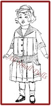"Vintage/Antique Box Pleated Dress Pattern for 16"" Doll - $7.99"