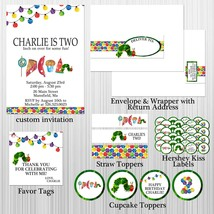 NEW Hungry Caterpillar Birthday, Baby Shower Party Package with Invitation - £24.91 GBP