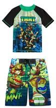 NINJA TURTLES UPF-50+ Rash Guard & Bathing Suit Swim Trunks NWT Boys Siz... - $29.98
