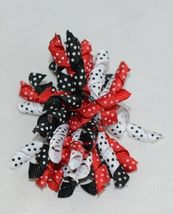 Unbranded Girl Infant Toddler Headband Removable Hair Bow Red Black White image 5