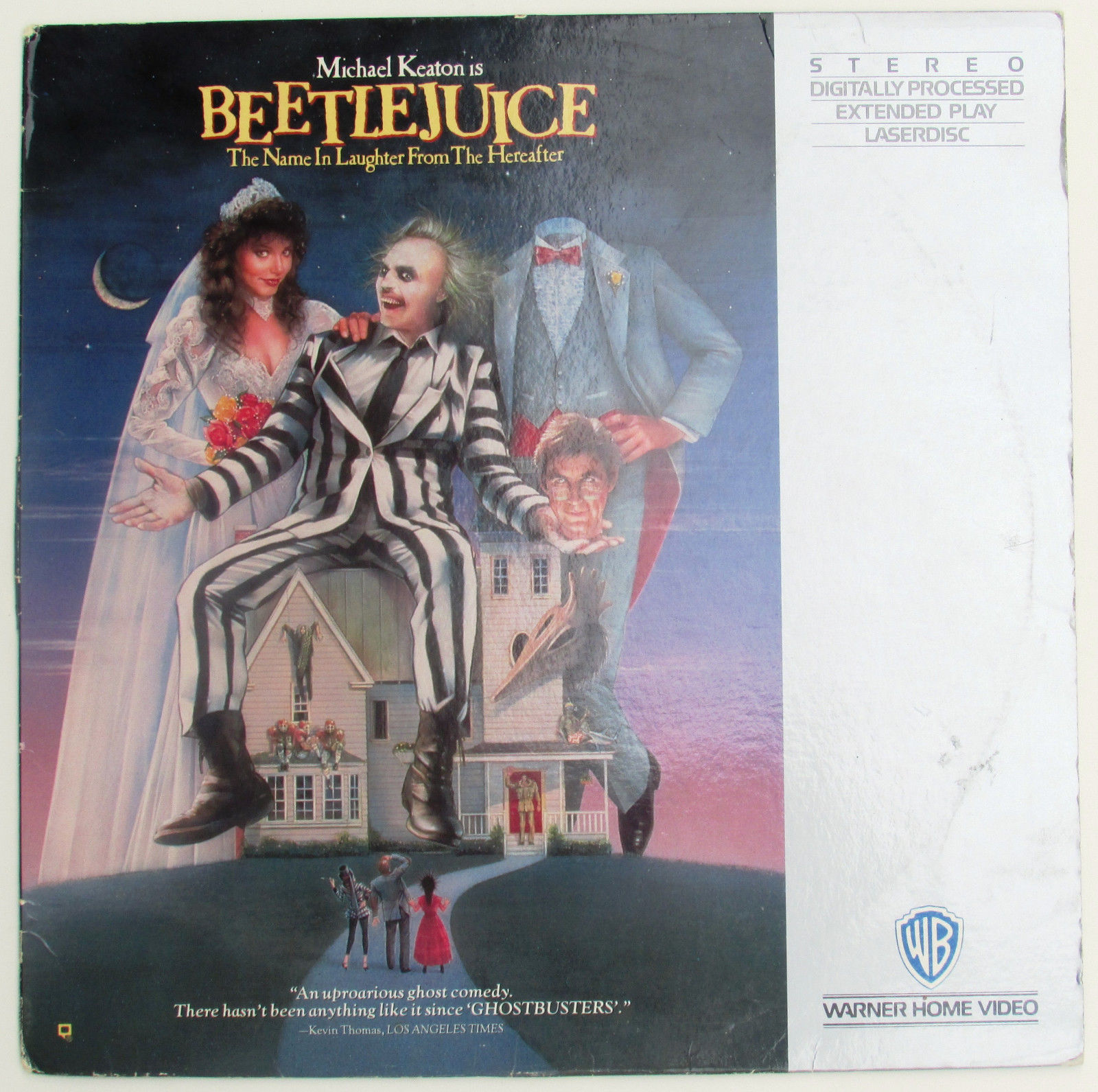 Beetlejuice on laserdisc michael keaton geena davis alec baldwin movie