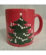 Waechtersbach Red Christmas Tree Coffee Mug Made in Germany - $12.00