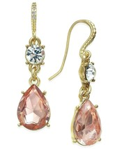 """Charter Club Drop Earrings Crystal & Colored Stones Gold Tone Pierced 1.5"""" NWT - $13.85"""