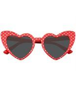 Occhiali da Sole Cuore a Pois Occhio di Gatto Donna Fashion Mod Super Fo... - $14.92