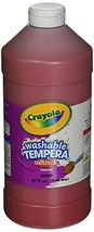 Crayola Washable Tempera Paint, Red Paint Craft Supplies, 32 Ounce - $11.51