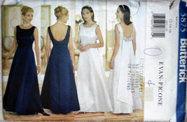 Formal Dress Evening Dress Weddings Special Occasions Butterick 5875 - $12.00