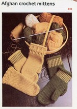 Afghan Crochet Mittens Cavendish Crochet PATTERN/Instructions Leaflet NEW - $0.90