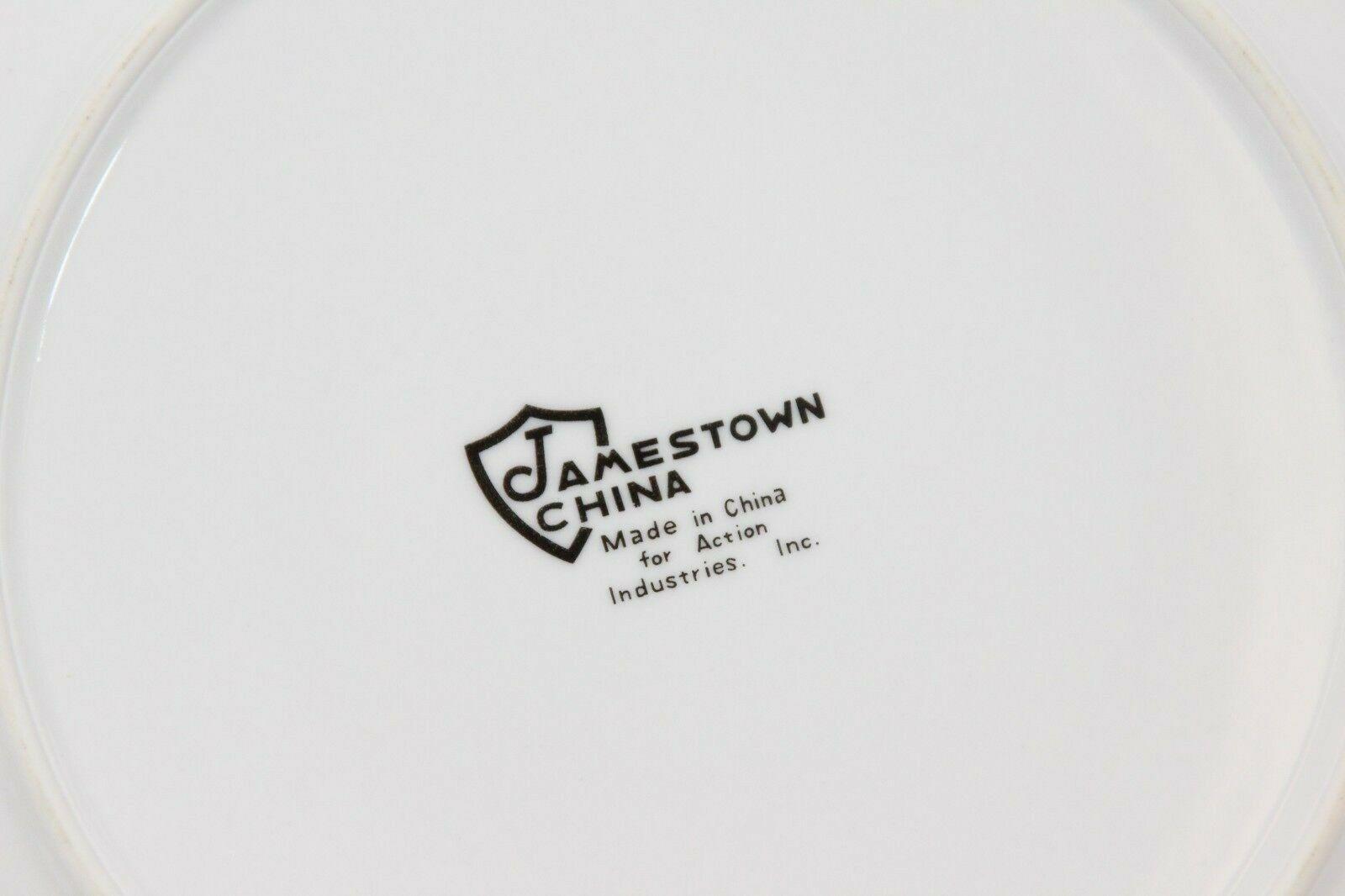 Jamestown Xmas Treasure Dinner and Salad Plates Lot of 8 image 6
