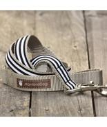 Mod Stripe Black Grosgrain Dog Leash (120cm, 4ft.) / Made in Japan - $36.00