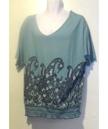 Charter Club New Casual V-Neck Top with Paisley design Size 0X - $12.83