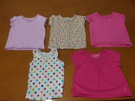 Lot of 5 Girls Toddlers Children's Place Pink White Yellow T-Shirts Sz 18 Months - $19.79