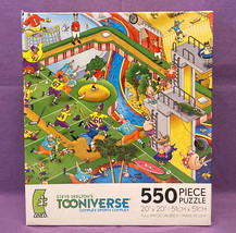 Ceaco Tooniverse puzzle Complex Sports Complex 550 pc Steve Skelton cartoon - $5.00