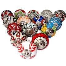 Lot Of 15 Mix Decorative Ceramic Drawer Knob Door Knobs Kitchen furnitur... - $26.00