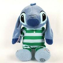 "Disney Store Lilo & Stitch 14"" Plush Alien Doll Striped Pajamas Slippers... - $24.18"
