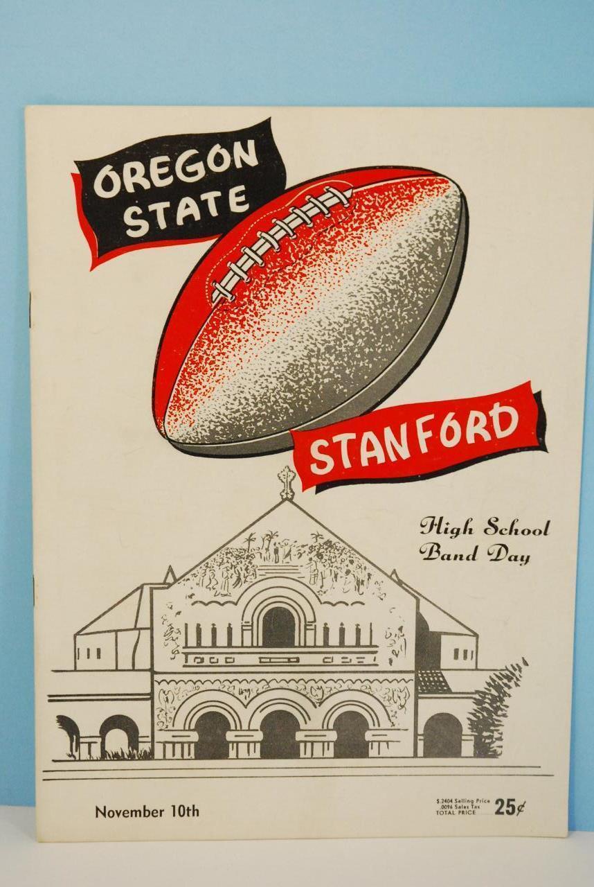 1956 Oregon State v Stanford - Hight School Band Night EX - $35.64