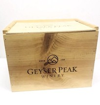 Wine Box Crate Geyser Peak Winery - $48.49