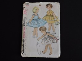 Vintage Simplicity Sewing Pattern 1955 1149 Cut Size 6 Sun Dress Bolero ... - $11.55