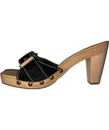 NEW CAR SHOE by Prada 38 7.5 shoes heels dust bag box black suede wood ... - $164.89